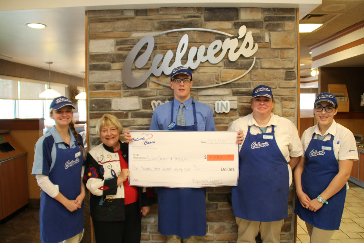 Culver's of Valparaiso Gives Generous Donation to Autism Society of Indiana