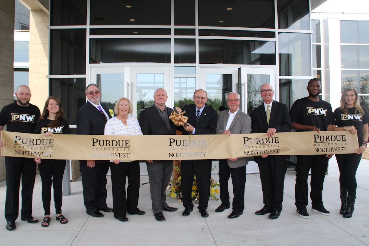 Chancellor Dworkin Leads Purdue Northwest In Ribbon Cutting for New Student Services and Activity Complex