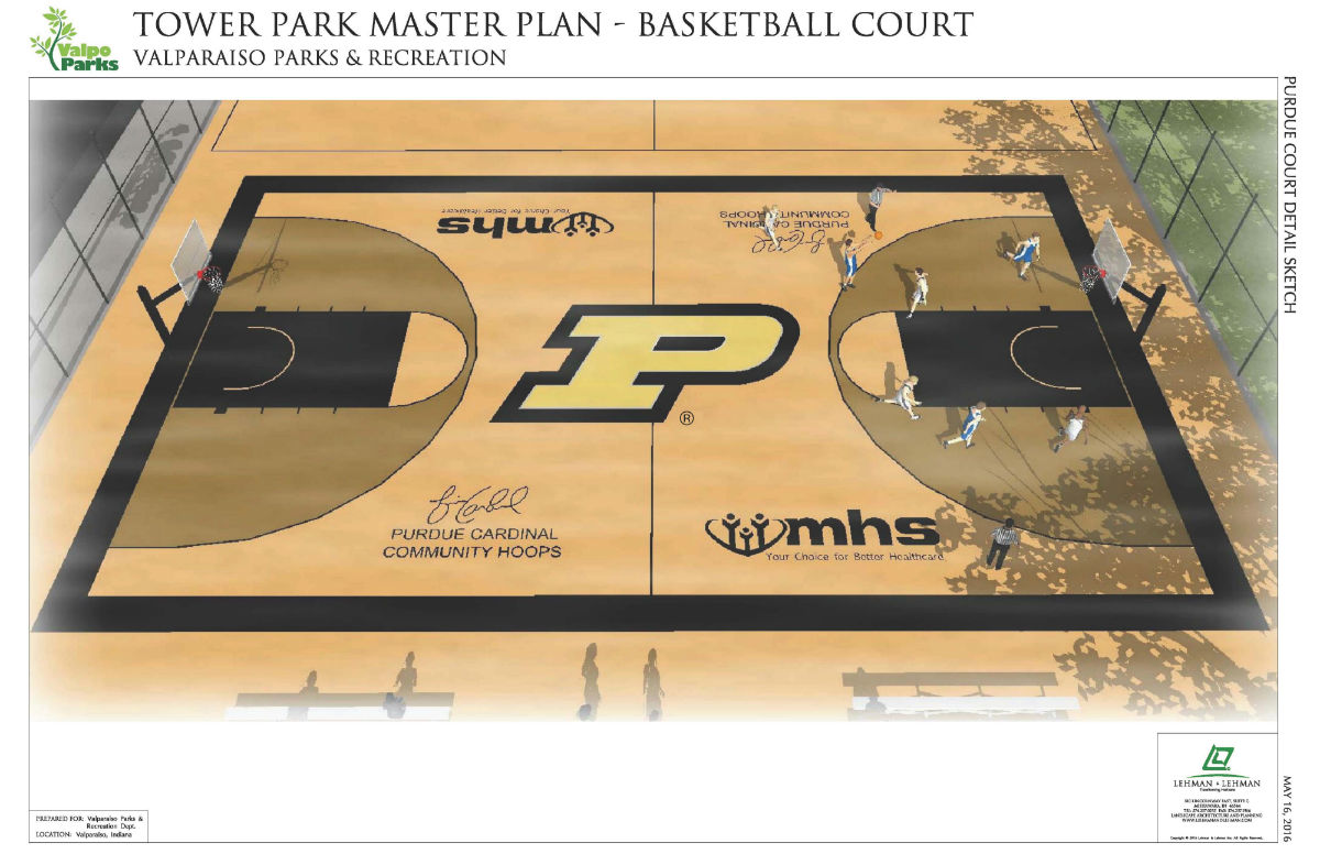 Valpo Parks Receives First Gift for New Courts at Tower Park