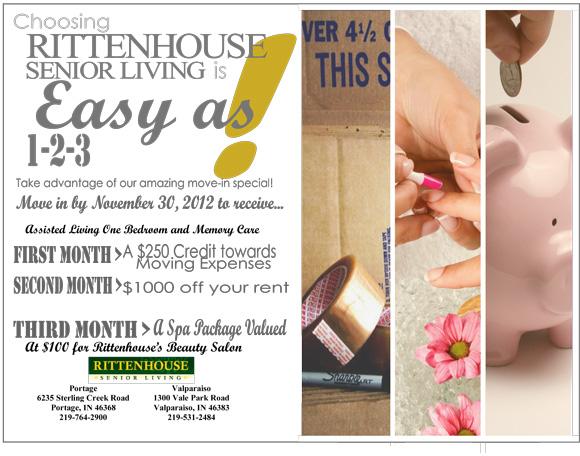 Choosing Rittenhouse Senior Living is Easy As 1-2-3!