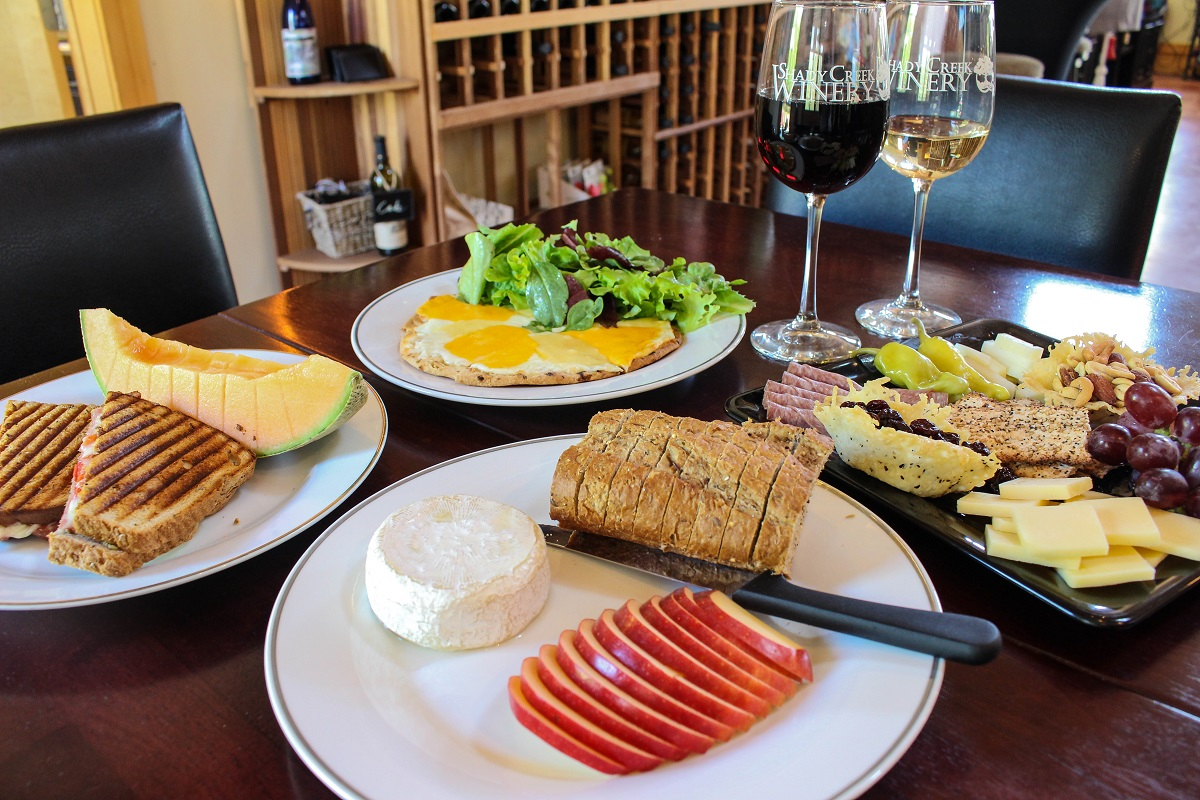 Enjoy Lunch at Your Leisure at Shady Creek Winery