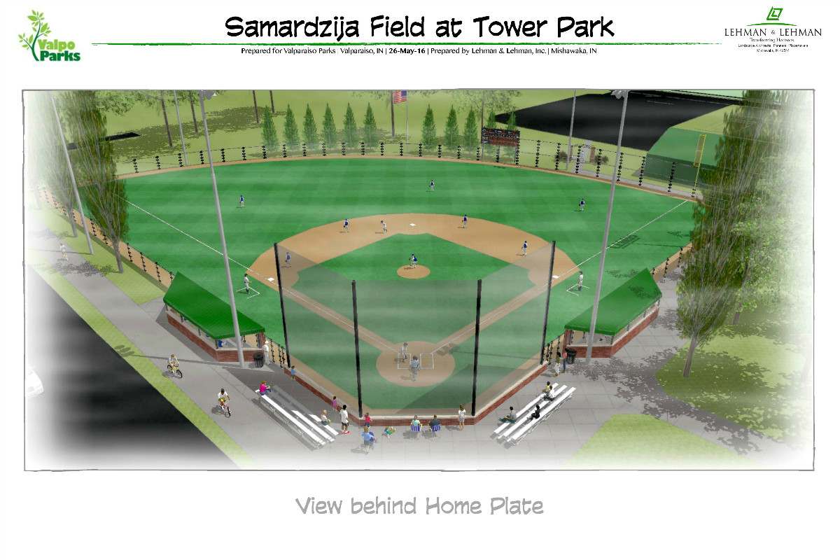 Valpo Parks Department and Samardzija Announce Samardzija Field Upgrade for Tower Park