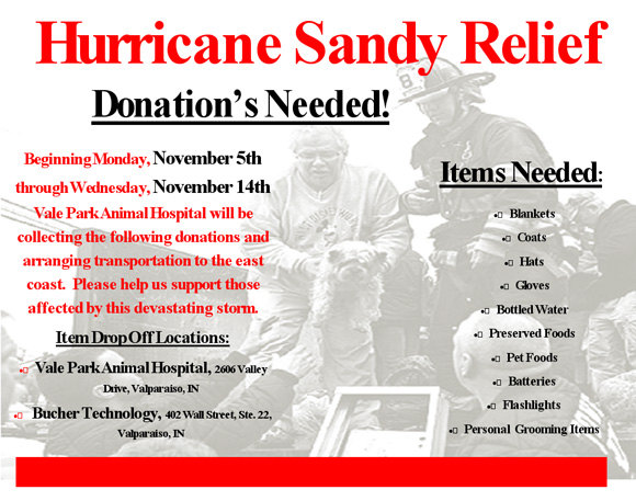Local Efforts To Help Hurricane Sandy Victims