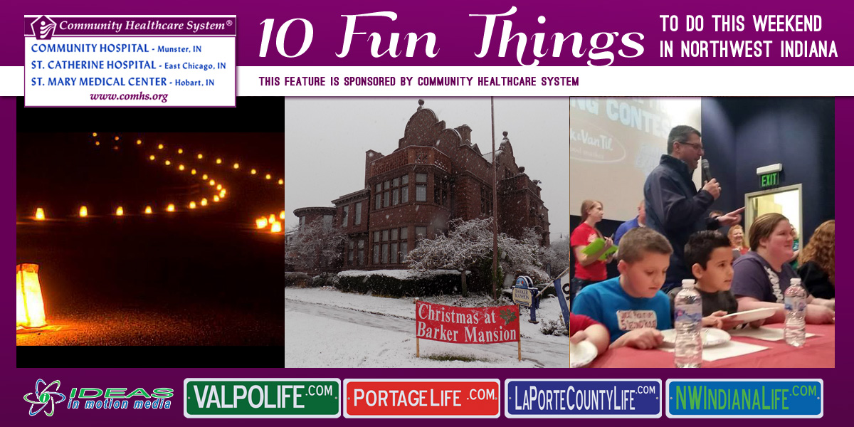 10 Fun Things to Do this Weekend in Northwest Indiana: December 16-18, 2016
