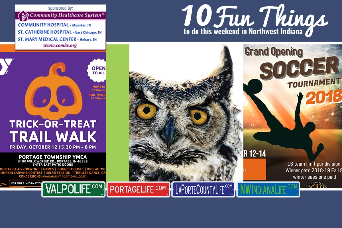 10 Fun Things to Do in NWI October 12 – October 14, 2018