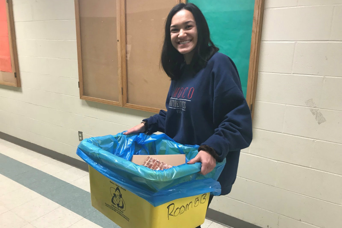 #1StudentNWI: Wheeler Recycles and Celebrates Seniors in January