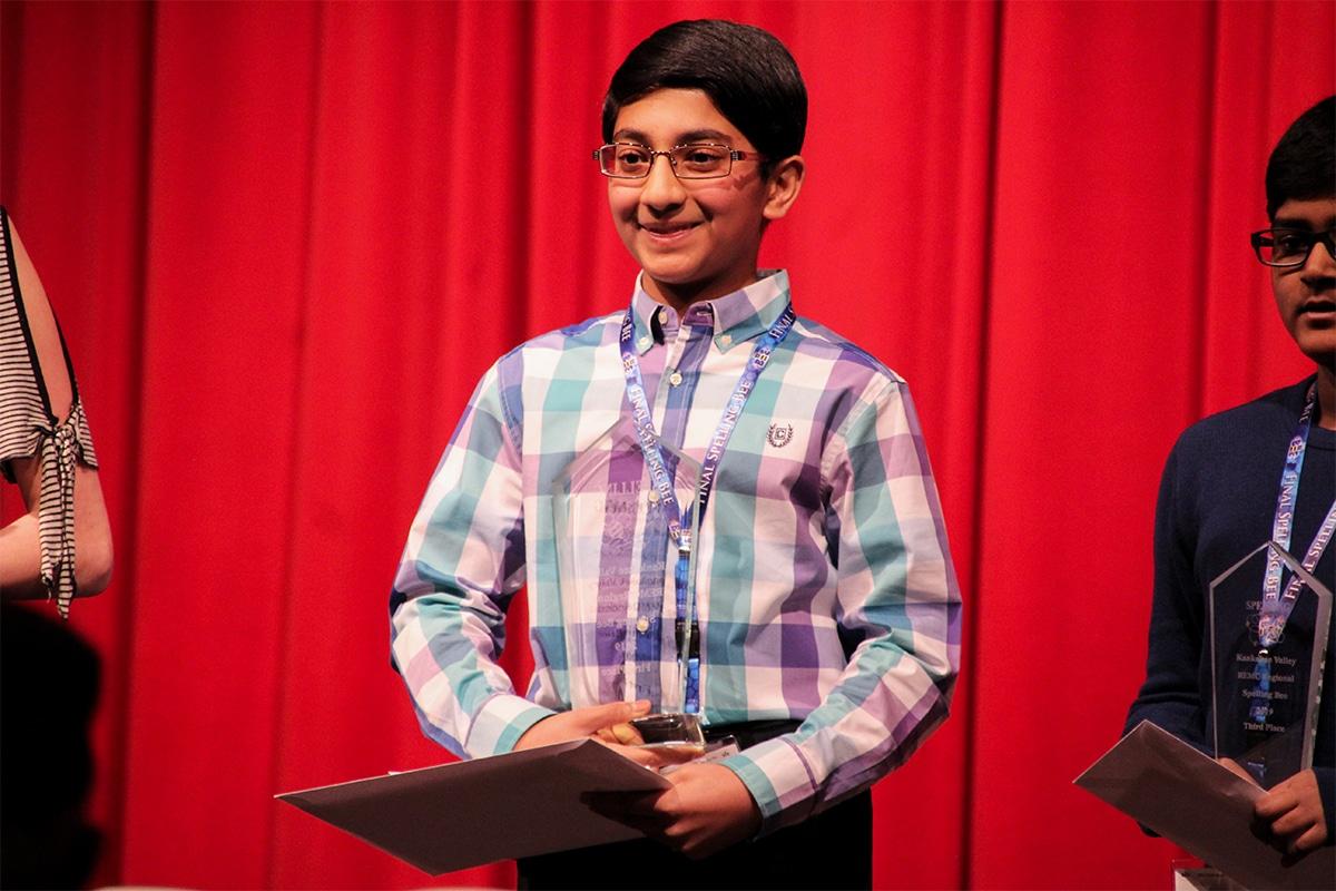 Nachiket Magesh Wins KV REMC District Spelling Bee