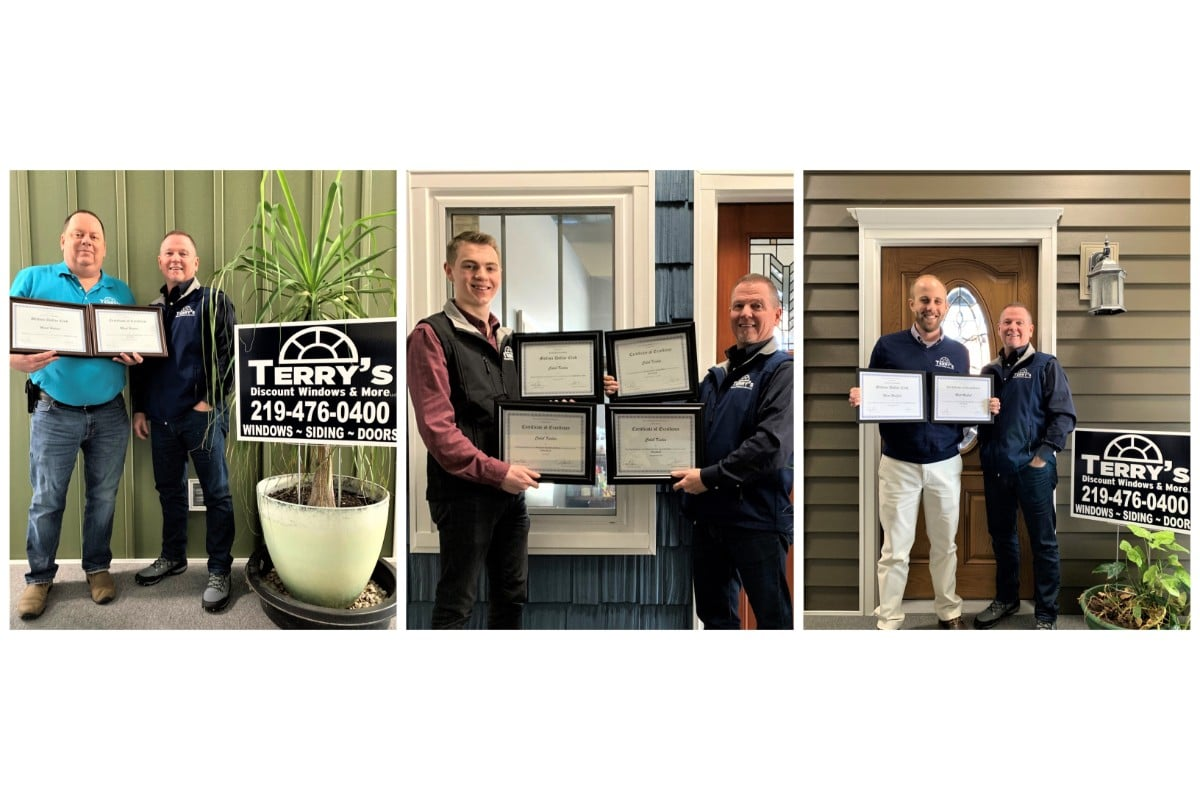 Terry's Discount Windows and More celebrates multiple $1Mil sales and other awards in the Region