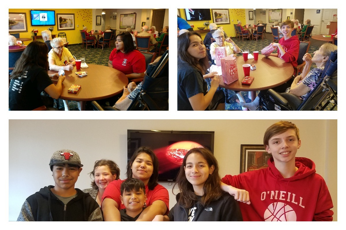 Boys & Girls Clubs of Greater Northwest Indiana's South Haven Keystone Club Volunteers at Rittenhouse of Portage