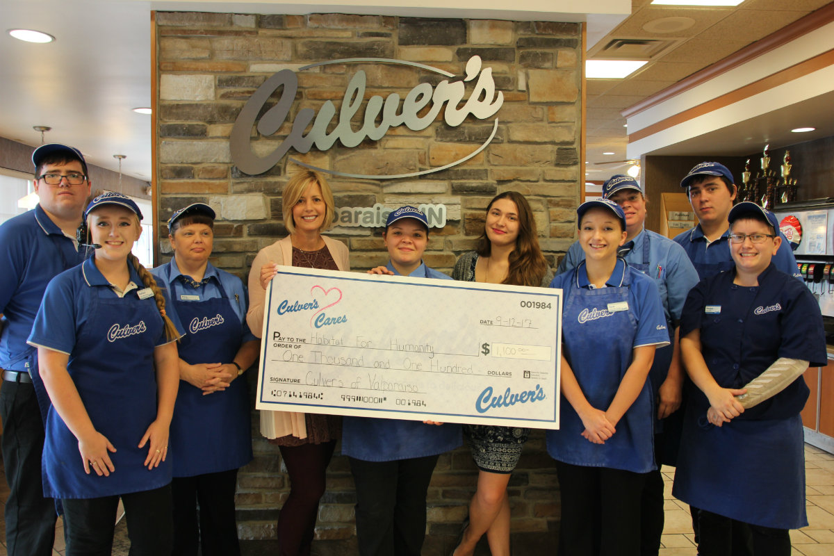 Culver's of Valparaiso Raises $1,100 for Habitat for Humanity of Porter County