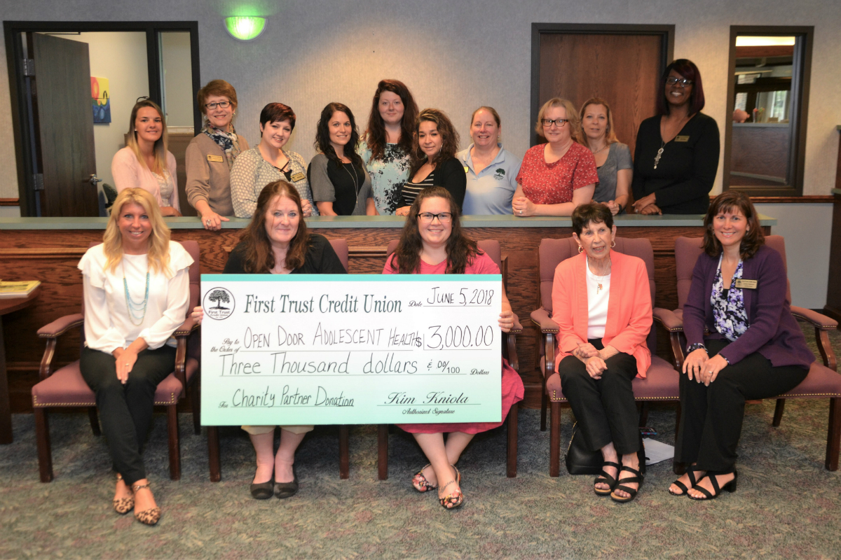 First Trust Credit Union Gives Back to Community With Donation to Open Door Adolescent Health in Michigan City