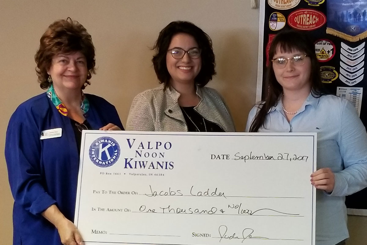 Valpo Noon Kiwanis Generously Donate to Jacob's Ladder Academy