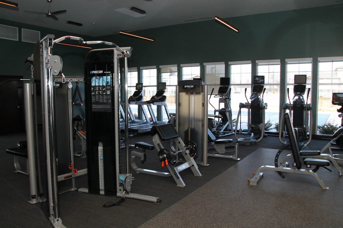 Working Out at The Lakes of Valparaiso: Apartment Living has its Perks