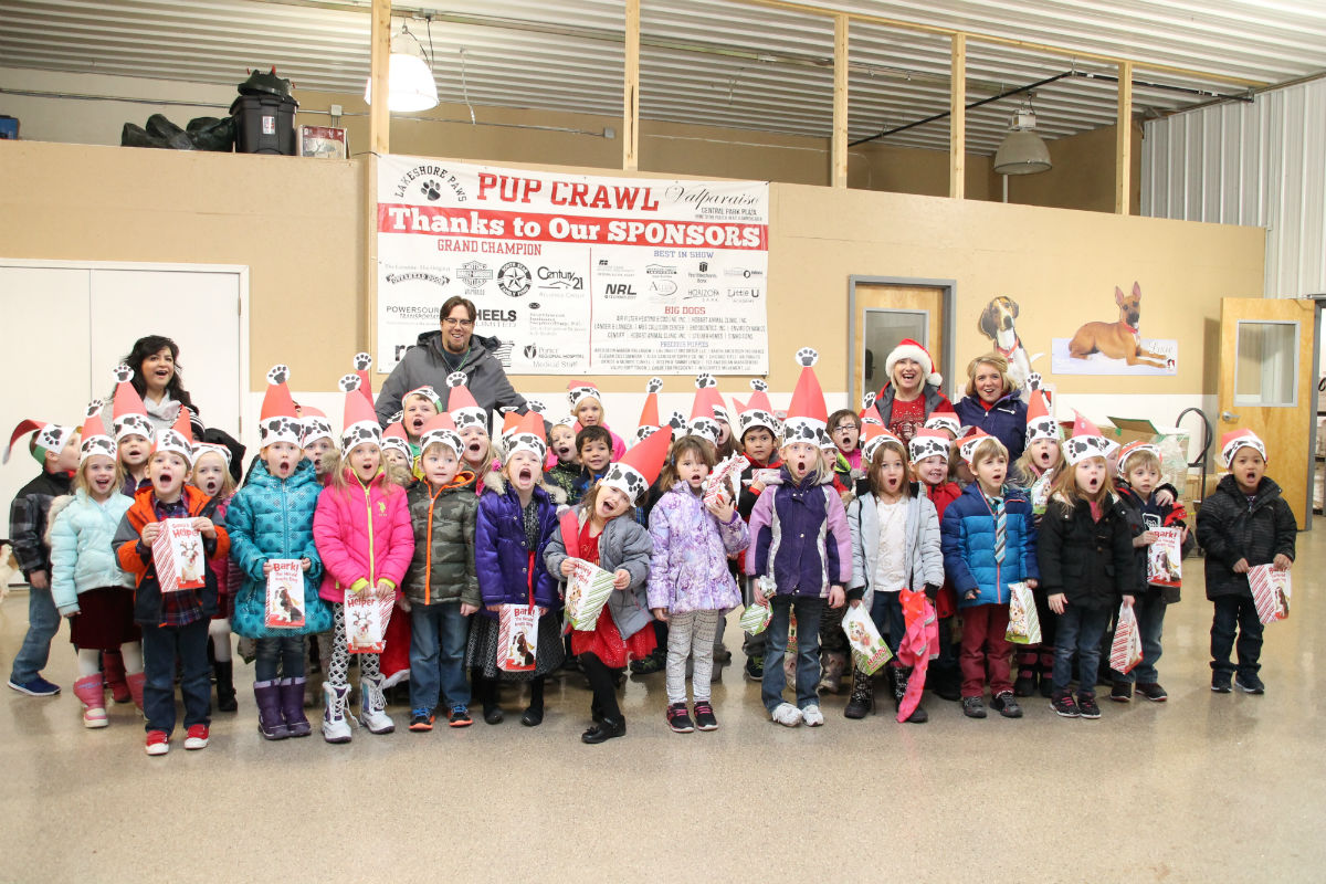Parkview Elementary Kindergartners  Volunteer at Lakeshore PAWS