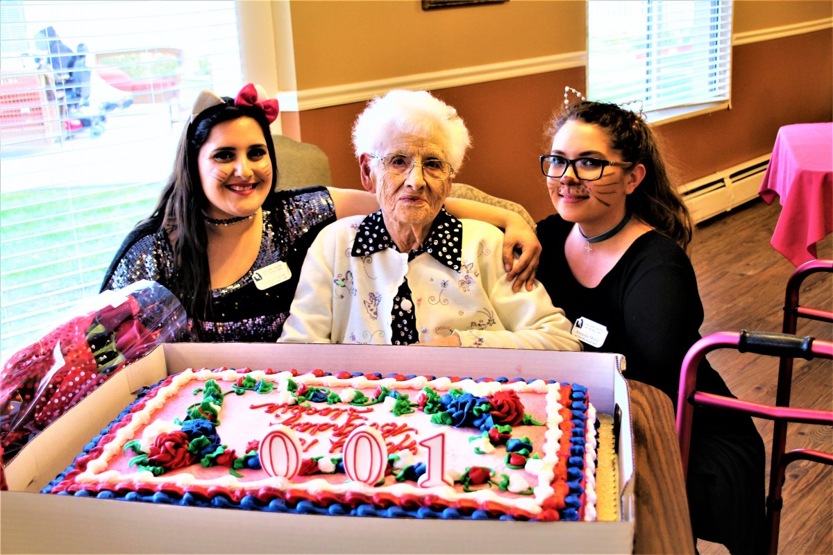 Life Care Center of the Willows celebrates Halloween, 100th birthday