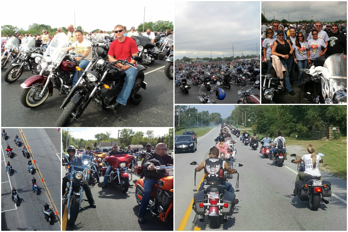Motorcycle runs around the Region