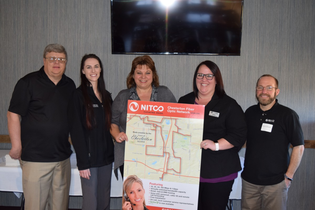 NITCO Provides Town of Chesterton with Recipe for Success with Fiber Optic Network!
