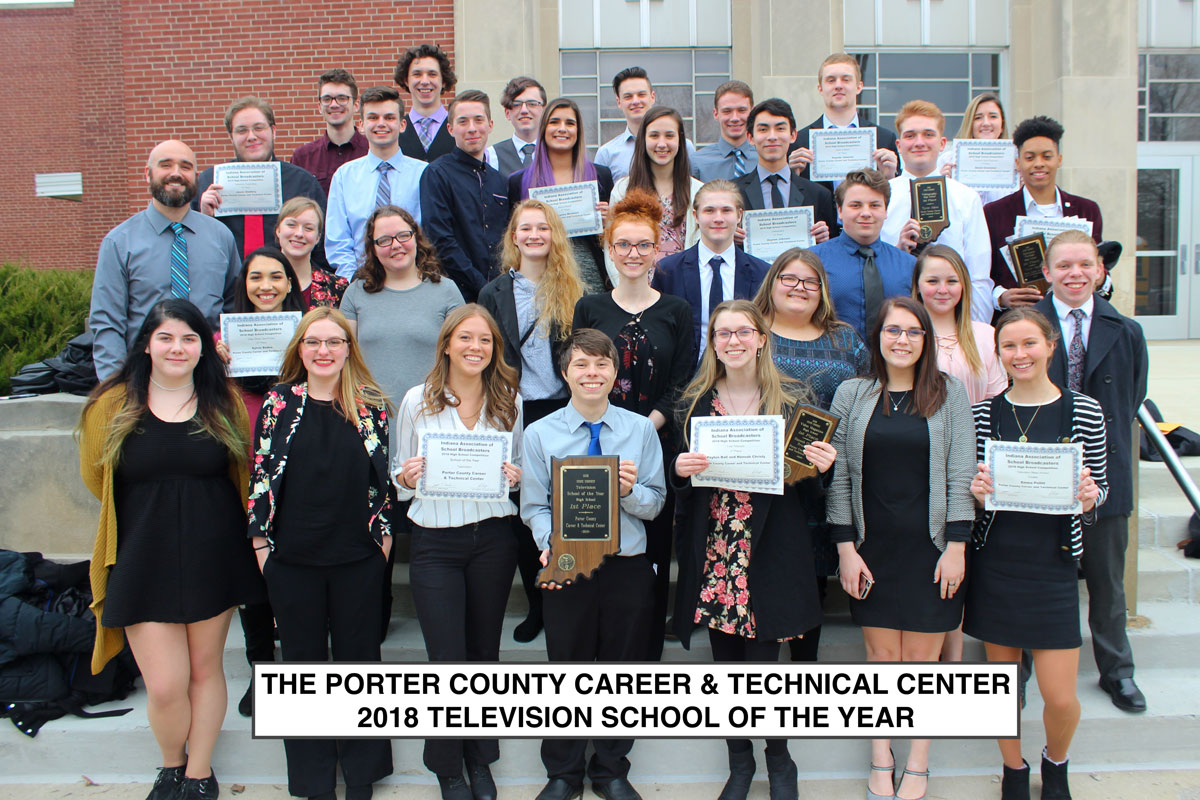 Porter County Career and Technical Center, Homestead High School Earn Top Honors in 2018 IASB High School Broadcasting Competition Awards