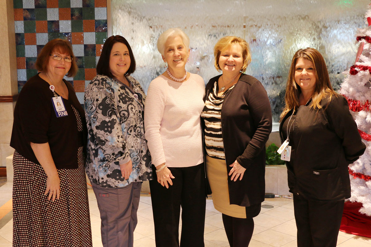 Pink Ribbon Society Donation Supports St. Mary Medical Center Breast Cancer Patients
