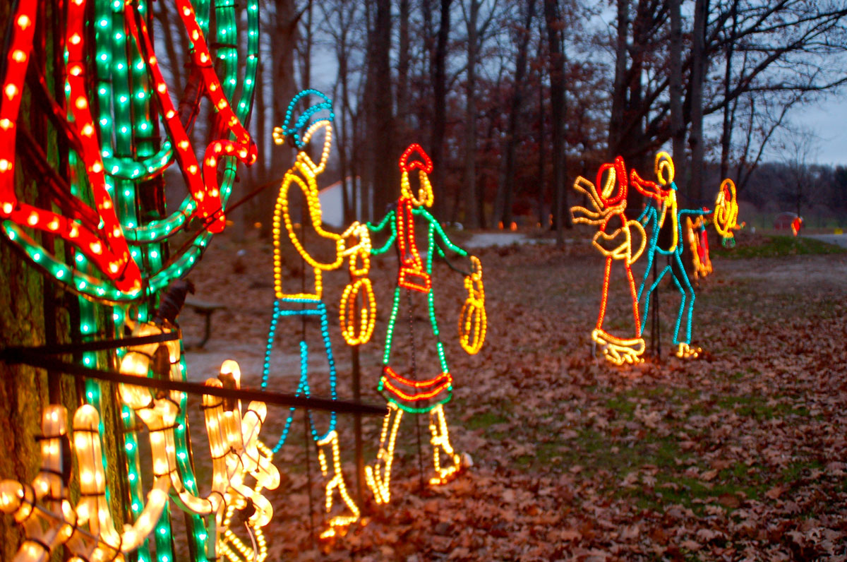 Winter Night Lights Display Highlights the Holiday Season for Porter County Parks and Recreation