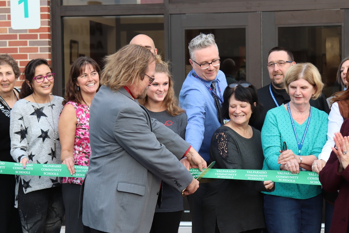 Ribbon Cutting at Porter County Career and Tech Center