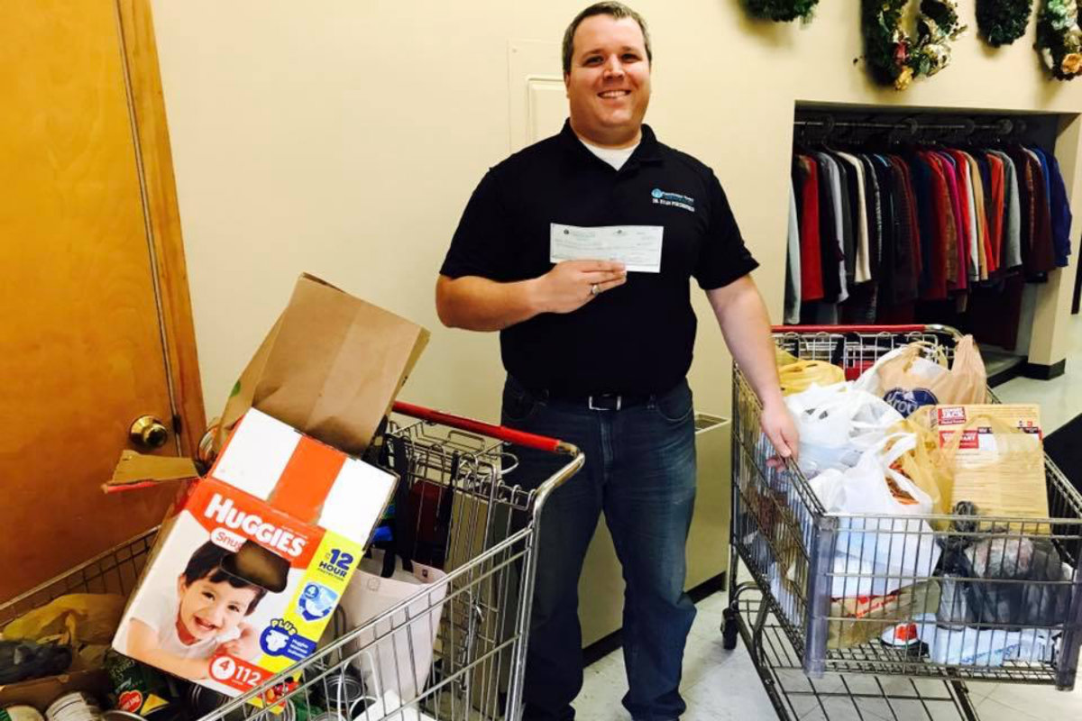 Porterfield Family Chiropractic Staff and Clients Team up for Families in Need