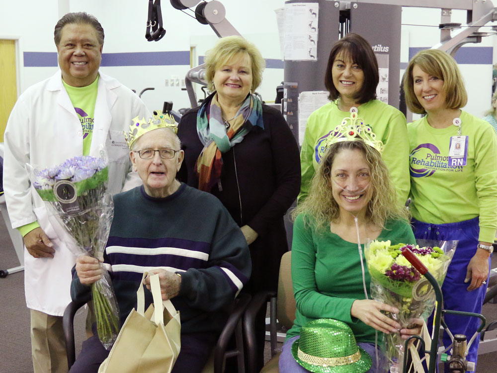 St. Mary Medical Center Crowns Pulmonary King, Queen During Pulmonary Rehabilitation Week