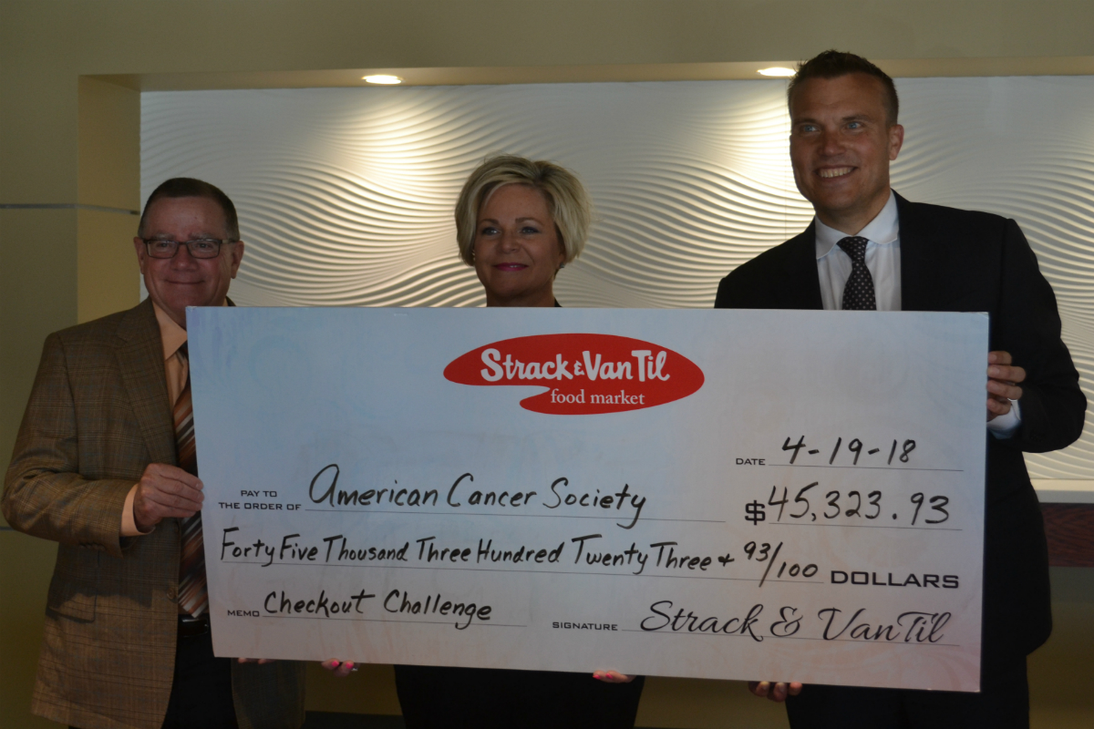 Strack & Van Til Continues Legacy of Giving with American Cancer Society Donation