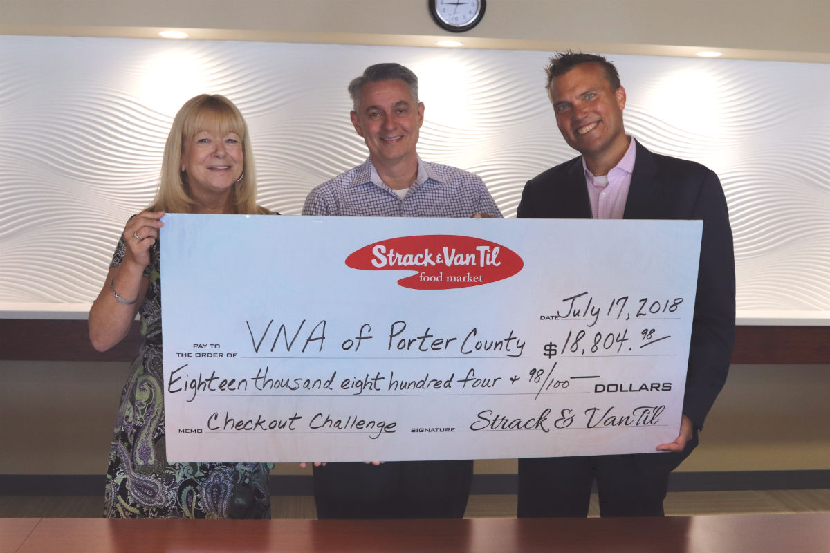 Strack & Van Til Celebrates Annual Checkout Challenge with Check Presentation to VNA of NWI and Meals on Wheels