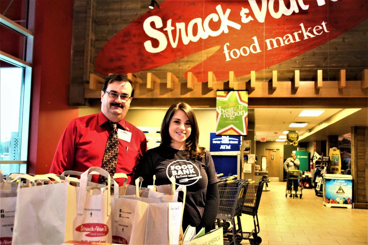 Collecting Change to Make a Change: Strack's and The Food Bank of NWI Team Up to Fight Hunger