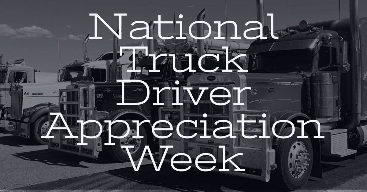 Thank a Trucker During this Year's Truck Driver Appreciation Week
