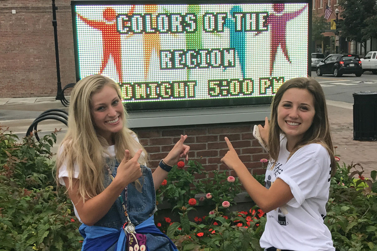 #1StudentNWI: Leadership takes the Streets of Valpo with Colors of the Region