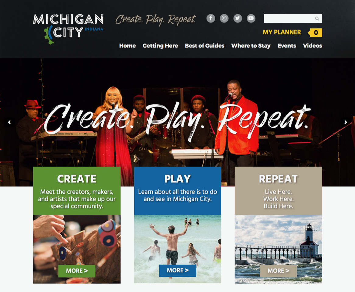 'Create Play Repeat' Site Launch Spotlights the Best in Michigan City