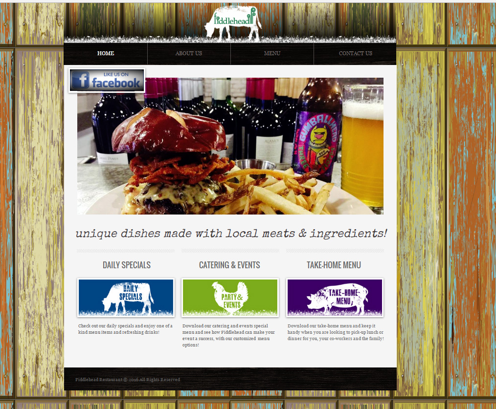 Fiddlehead Launches New Website, Menu, and Daily Specials