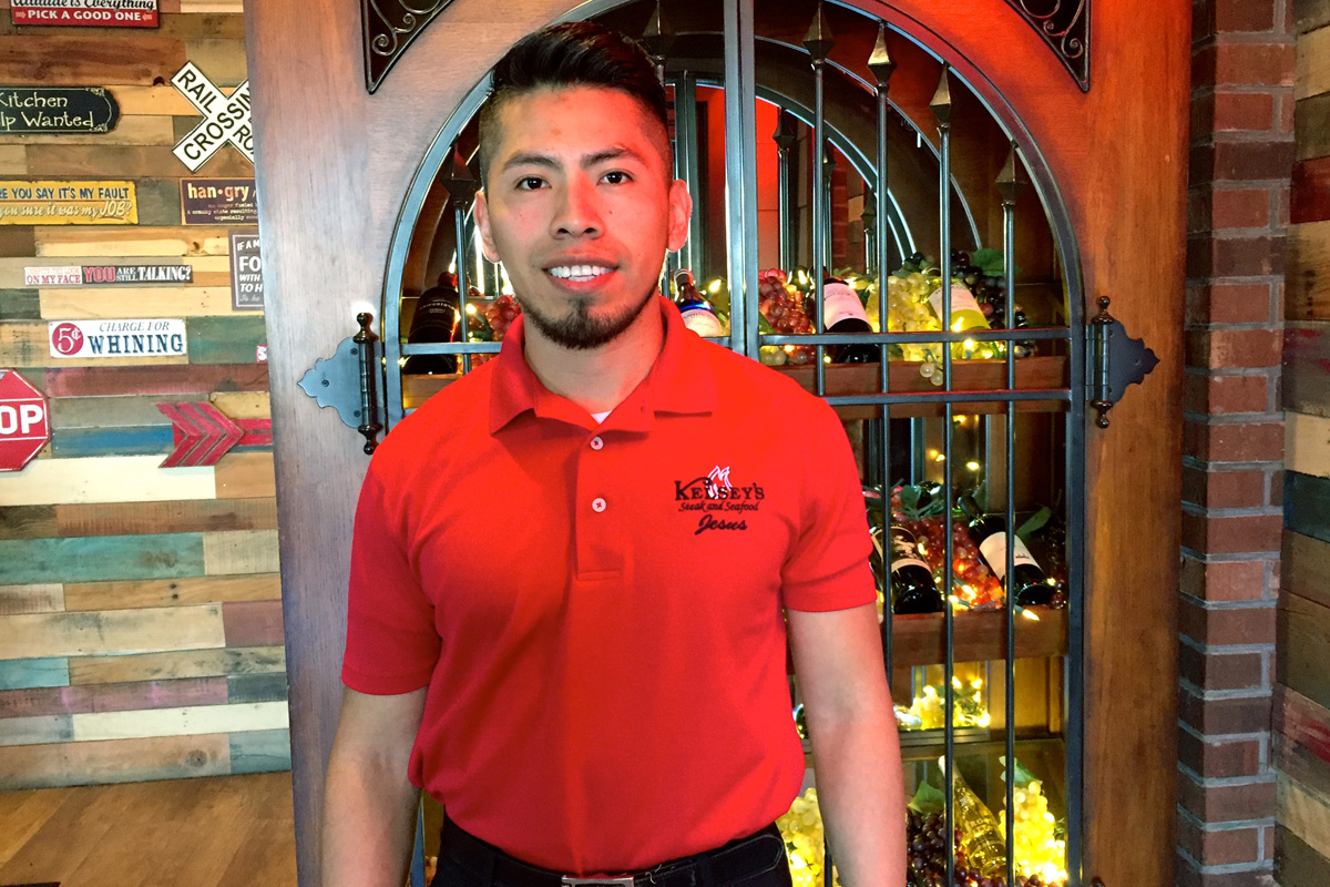 Meet the New Floor Manager at Kelsey's Steakhouse, Jesus Torres