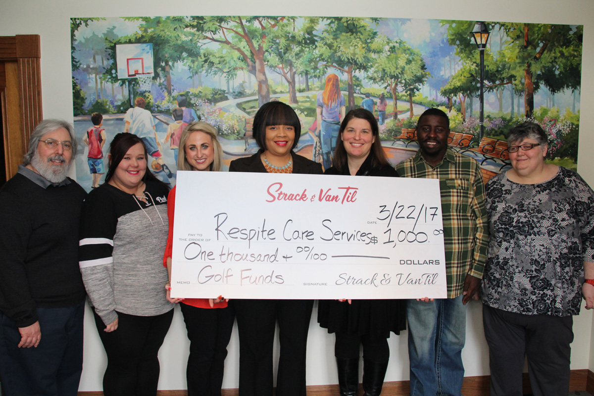 Strack & Van Til Donates $1,000 to Respite Care Service for Equipment, Services